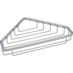 Delta Large Corner Caddy, Stainless Steel
