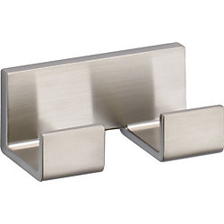 Vero Double Robe Hook, Stainless Steel