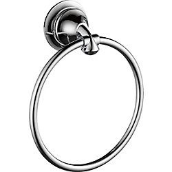 Linden Towel Ring, Chrome
