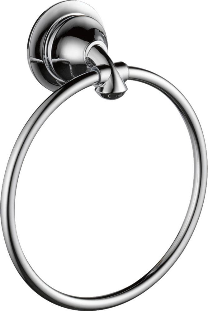 Delta Linden Towel Ring, Chrome