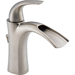 Delta Nyla Single Handle Lavatory Faucet, Stainless Steel