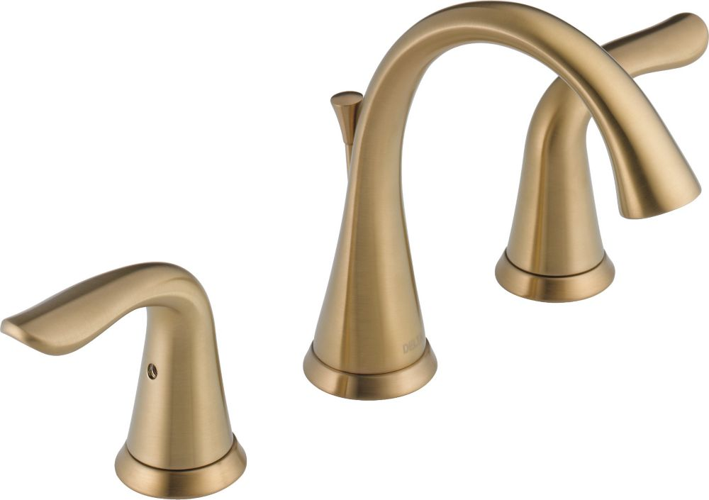 Delta Lahara Two Handle Widespread Lavatory Faucet, Champagne Bronze