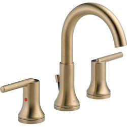 Delta Trinsic Widespread Lavatory Faucet with Metal Pop-Up, Champagne Bronze