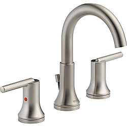 Trinsic Widespread Lavatory Faucet with Metal Pop-Up, Stainless Steel