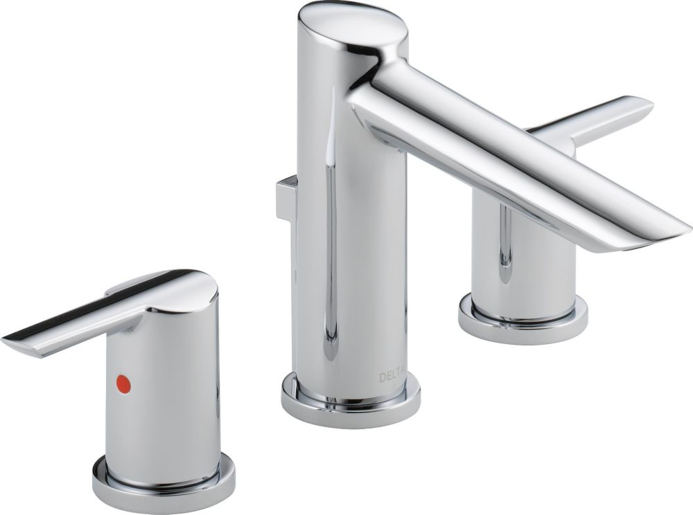 Delta Compel Widespread Bath Faucet with Metal Pop-Up, Chrome