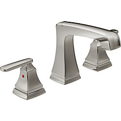 Ashlyn Two Handle Widespread Lavatory Faucet, Stainless Steel