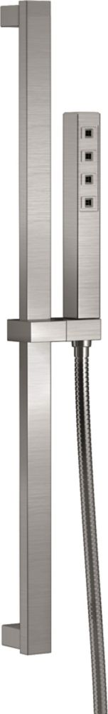 Delta Slide Bar Hand Shower with H2Okinetic, Stainless Steel