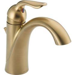 Delta Lahara Single Handle Centerset Lavatory Faucet, Champagne Bronze