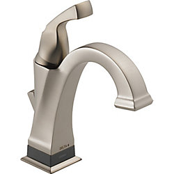 Dryden Single Handle Centerset Lavatory Faucet with Touch20.xt Technology, Stainless Steel