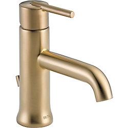 Trinsic Single Handle Lavatory Faucet - Less pop up, Champagne Bronze