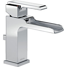 Ara Single Handle Channel Lavatory Faucet, Chrome