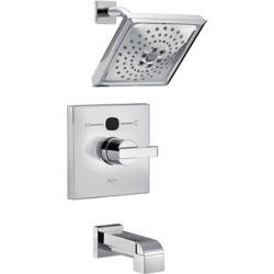 Delta Garniture de baignoire et douche moderne et angulaire Temp2O, chrome