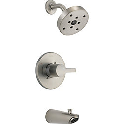 Compel 14 Series MultiChoice Tub/Shower Trim, Stainless Steel