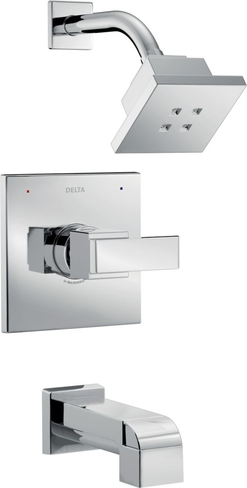 Delta Ara Monitor 14 Series Tub and Shower Trim with H2Okinetic, Chrome