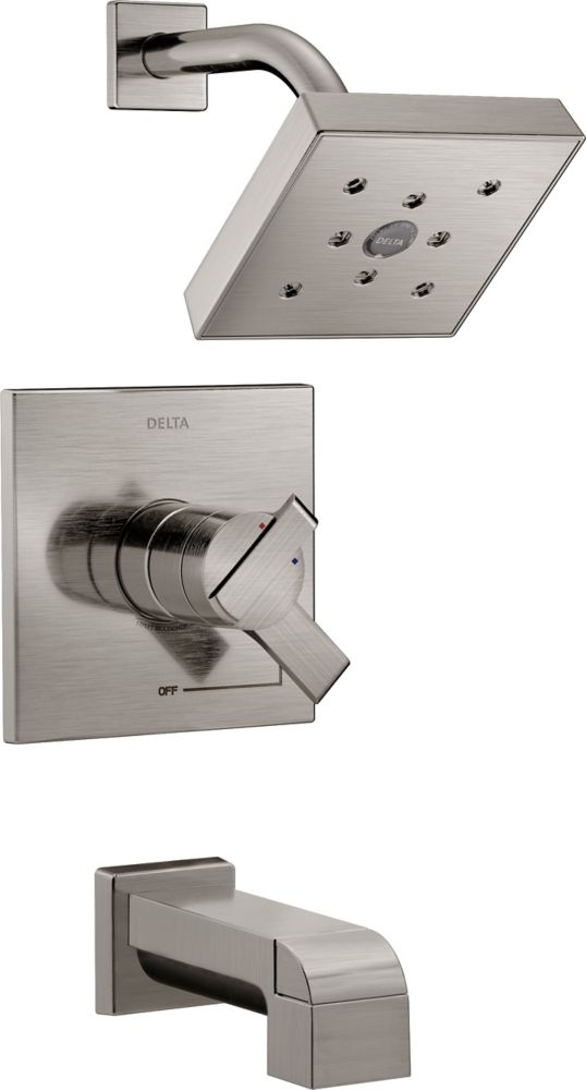 Delta Ara Monitor 17 Series Tub and Shower Trim, Stainless Steel