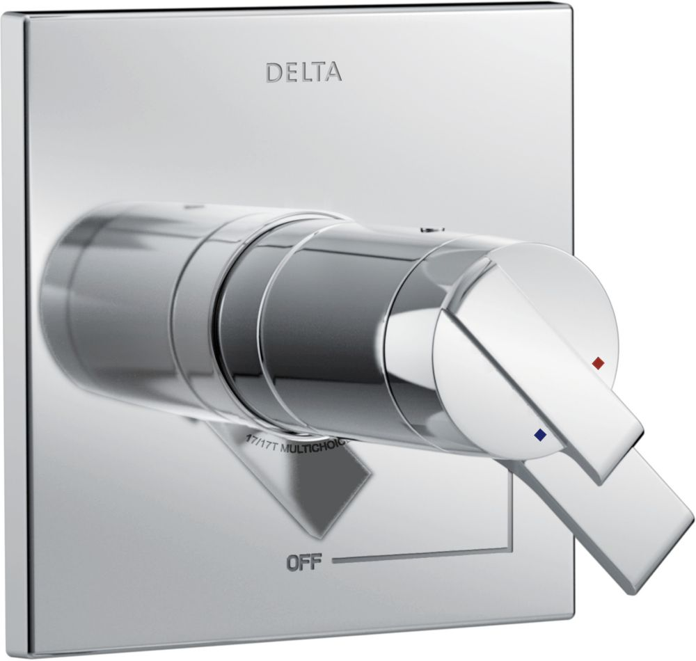 Delta Ara TempAssure 17T Series Valve Only Trim, Chrome