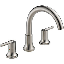 Trinsic 3-hole Roman Tub Trim, Stainless Steel (Valve Sold Separately)