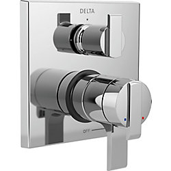 Delta Angular Modern Monitor 17 Series Valve Trim with 3-Setting Integrated Diverter, Chrome