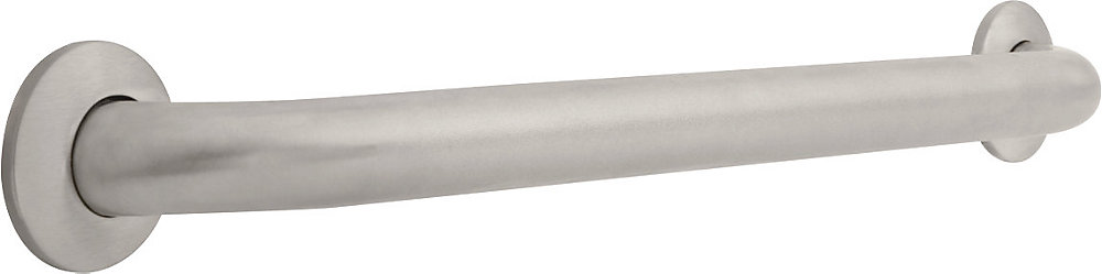 1-1/2 inch  x 24 inch Grab Bar, Peened Stainless Steel