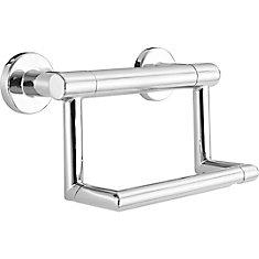 Contemporary Tissue Holder/Assist Bar, Chrome