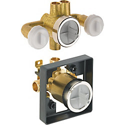 Delta Jetted Shower Rough-In Valve with extra Outlet (6-Setting)