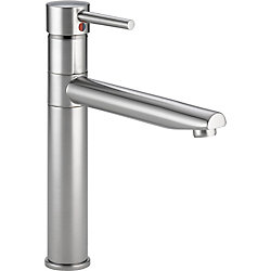 Trinsic Single Handle Centerset Kitchen Faucet, Arctic Stainless