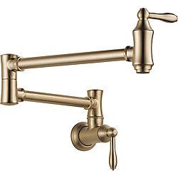 Delta Pot Filler Faucet - Wall Mount, Champagne Bronze