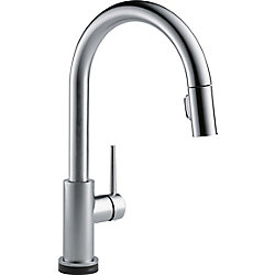 Trinsic Single Handle Pull-Down Kitchen Faucet Featuring Touch2O Technology, Arctic Stainless