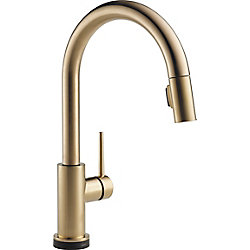 Trinsic Single Handle Pull-Down Kitchen Faucet Featuring Touch2O Technology, Champagne Bronze