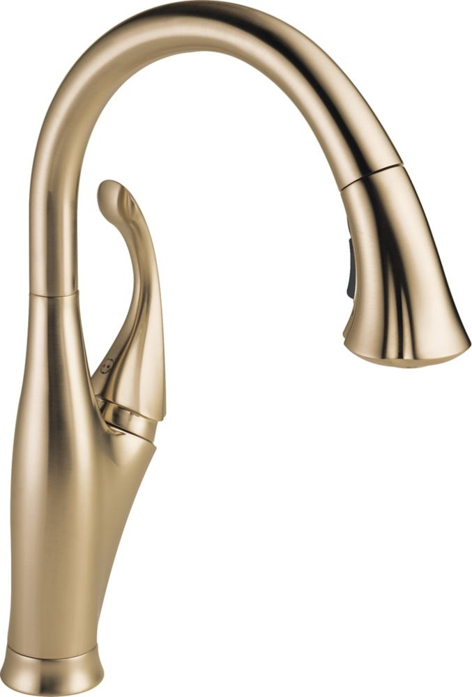 Delta Addison Single Handle Water Efficient Pull-Down Kitchen Faucet, Champagne Bronze