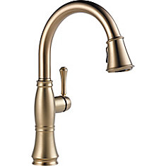 Cassidy Single Handle Pull Down Kitchen Faucet, Champagne Bronze
