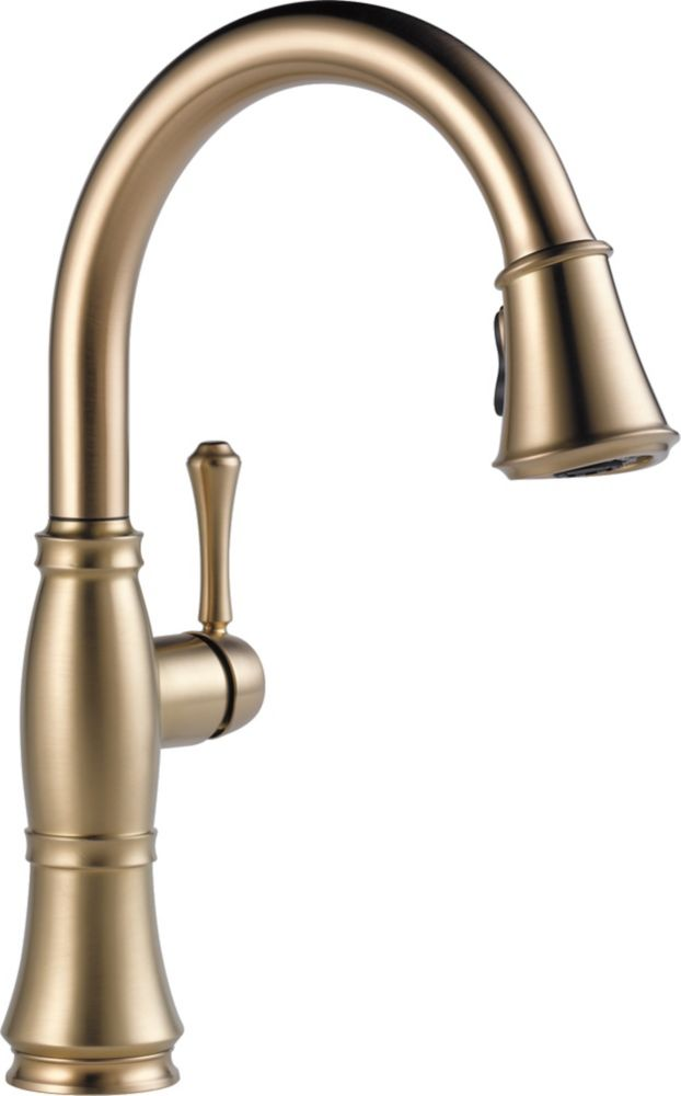 Delta Cassidy Single Handle Pull Down Kitchen Faucet, Champagne Bronze