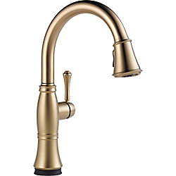 Delta Cassidy Single Handle Pull-Down Kitchen Faucet with Touch2O Technology, Champagne Bronze