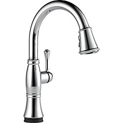 Delta Cassidy Single Handle Pull-Down Kitchen Faucet with Touch2O Technology, Chrome