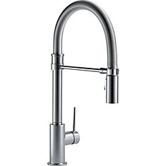 Trinsic Single Handle Pull-down Kitchen Faucet With Spring Spout, Arctic Stainless