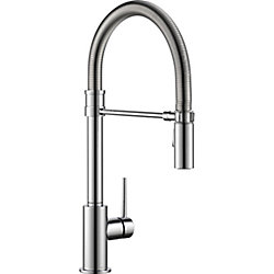 Trinsic Single Handle Pull-down Kitchen Faucet With Spring Spout, Chrome
