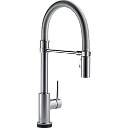 Trinsic Single Handle Pull-down Kitchen Faucet With Spring Spout With Touch2O, Arctic Stainless
