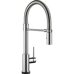 Trinsic Single Handle Pull-down Kitchen Faucet With Spring Spout With Touch2O, Chrome