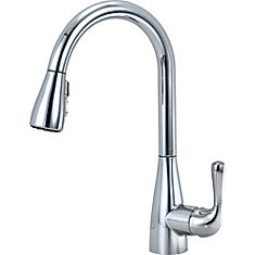 Marley Single Handle Pull-Down Kitchen Faucet, Chrome