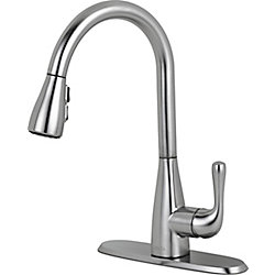 Delta Marley Single Handle Pull-Down Kitchen Faucet, Arctic Stainless