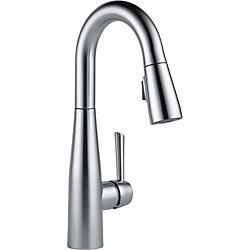 Essa Single Handle Pull-down Bar/Prep Faucet, Arctic Stainless