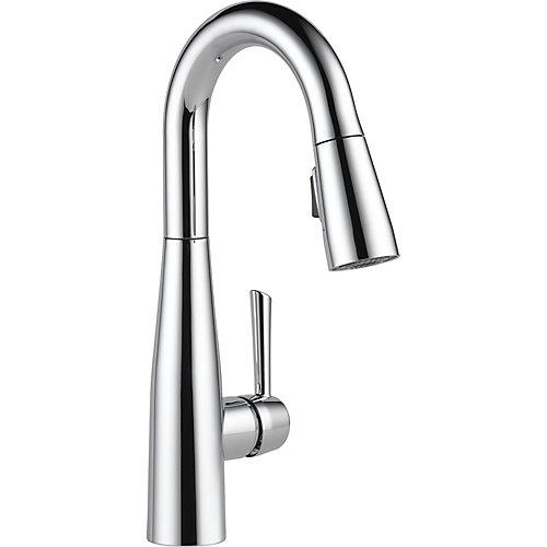 Essa Single Handle Pull-down Bar/Prep Faucet, Chrome