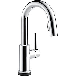 Delta Trinsic Single Handle Pull-Down Bar/Prep Faucet Featuring Touch2O Technology, Chrome