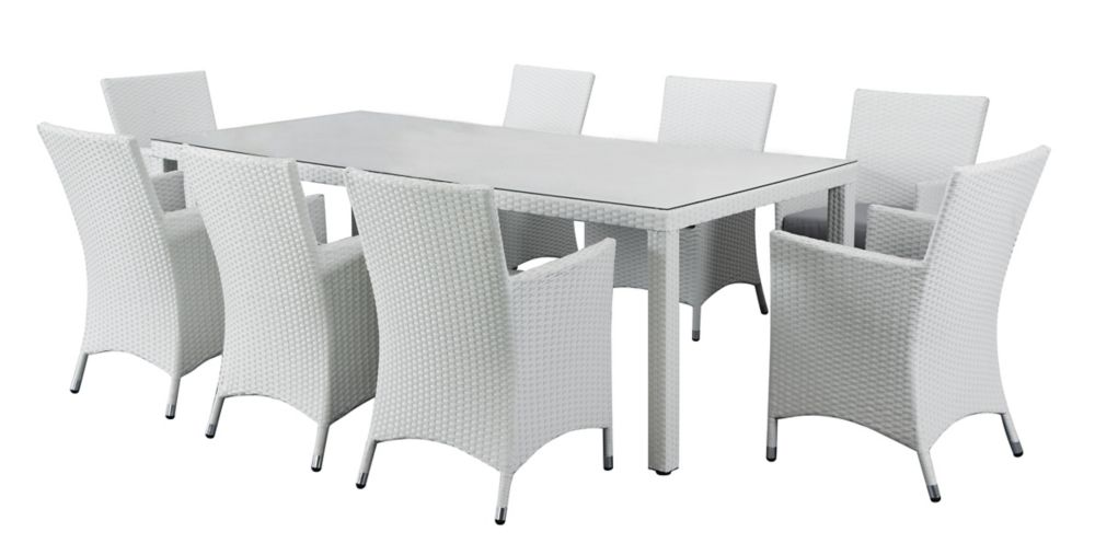 set weather jensen leisure sacramento govenor dining patio furniture all aluminum alpha wicker outdoor
