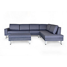 Paglia Indoor-Look Design All-Weather Fabric Patio Sectional Set