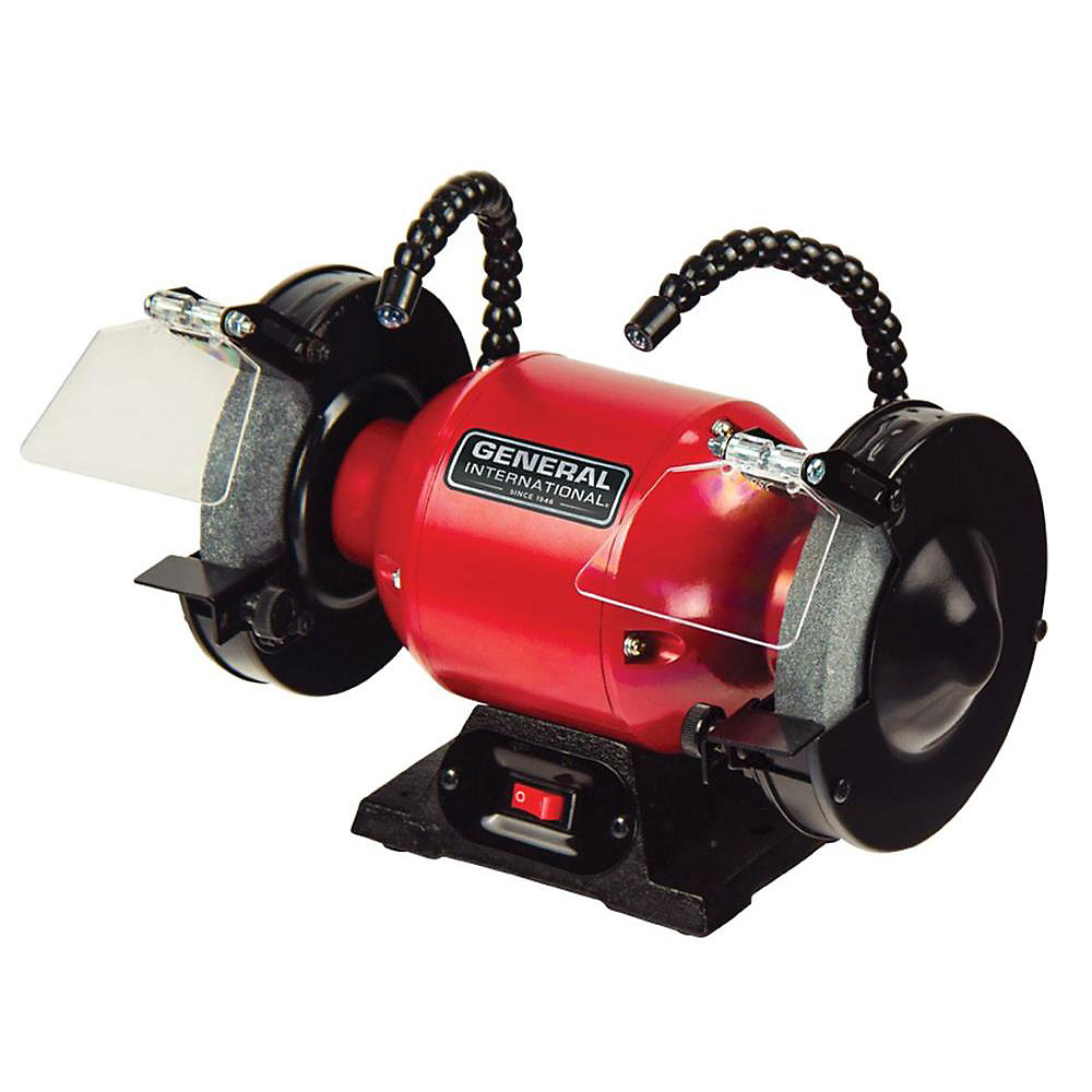 6 inch 2A Bench Grinder With Twin Led Work Lights