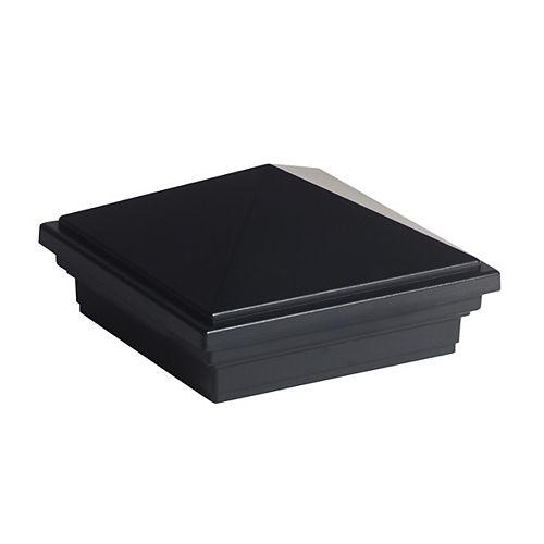 Trex 4 inch x 4 inch Transcend Post Sleeve Cap - Pyramid - Charcoal Black