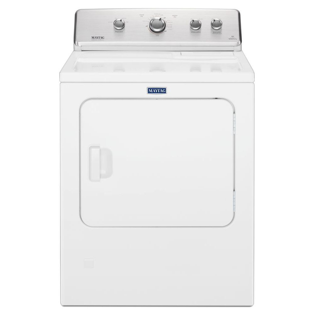 Maytag 7.0 cu. ft. Large Capacity Front Load Dryer with Wrinkle Control in White