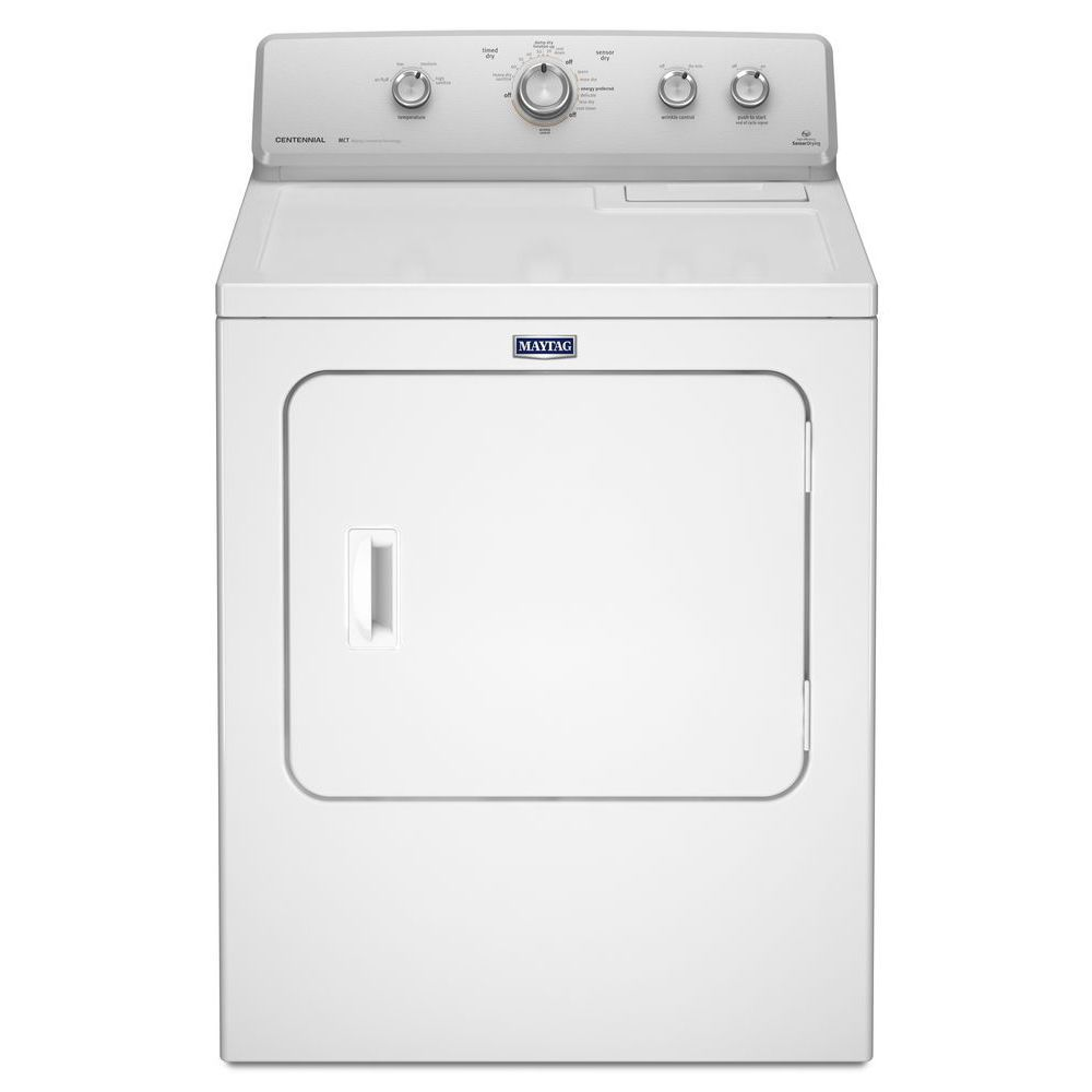 Maytag 7.0 cu. ft. Extra-Large Capacity Gas Dryer with IntelliDry Sensor in White
