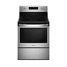 30-inch 5.3 cu. ft. Electric Range Single Oven with Self-Cleaning in Stainless Steel